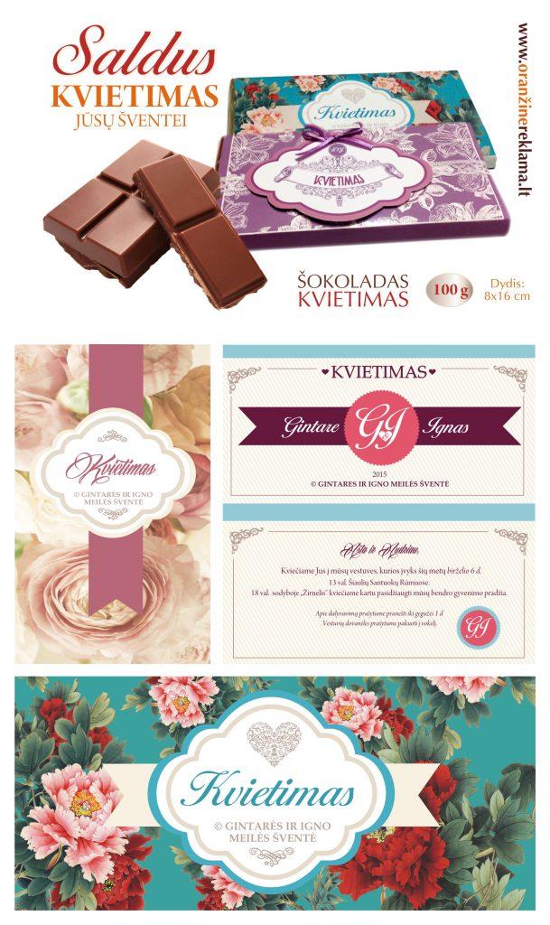 Kvietimų gamyba | Šokoladas